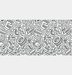 seamless background sketch hand-drawn geometric vector image