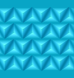 seamless blue ethno pattern with 3d geometric vector image