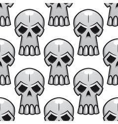 Seamless pattern of angry stylized skulls vector