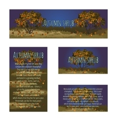 Series card with autumn tree and sample text vector