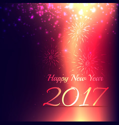 Shiny new year 2017 holidays background design vector