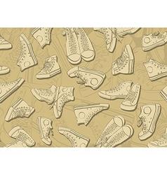 Sneakers Background vector