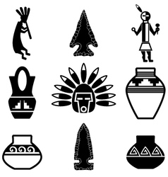 southwest artifacts vector image