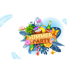 summer time poster wallpaper for fun party vector image