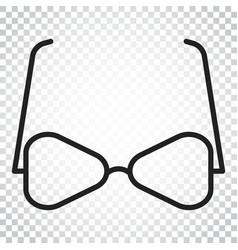 Sunglass icon eyewear flat simple business vector
