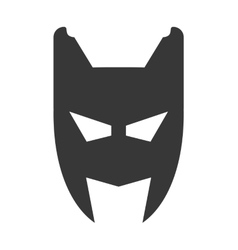 superhero superman mask design vector image