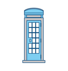 Telephone box isolated vector