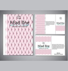 template of book cover for brochureflyerannual vector image