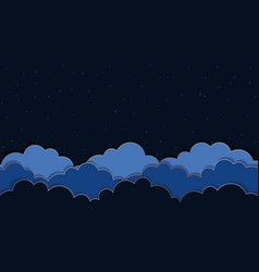 this is a dark blue background with clouds vector image