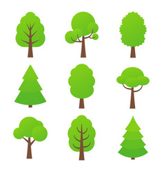 tree icon nature green forest plants vector image