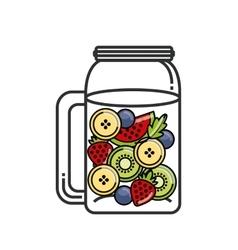 Tropical Detox icon Organic food design vector