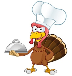 Turkey Mascot Chef vector image