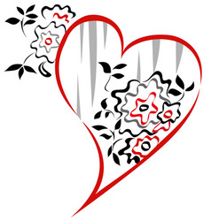 valentine floral graphic vector image