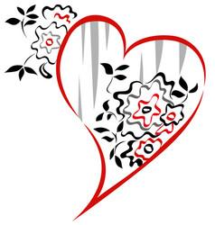 Valentine floral graphic vector