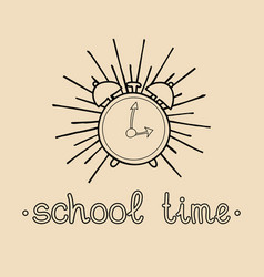 vintage welcome back to school logo or vector image