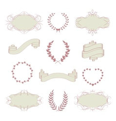 Wedding graphic collection vector image