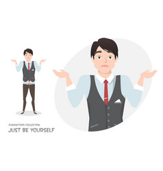 young businessman doubt no ideas vector image