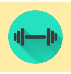 abstract dumbbell icon vector image vector image