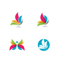 beauty butterfly logo template vector image