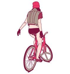 Biker Girl vector image vector image