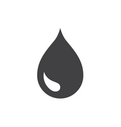 black drop icon or rain icon isolated on white vector image