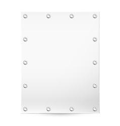 Blank white banner vector image vector image