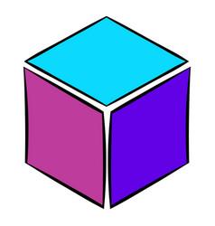 cube icon cartoon vector image