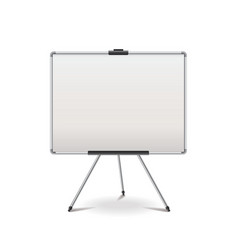 empty whiteboard isolated vector image vector image
