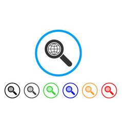 global search rounded icon vector image vector image
