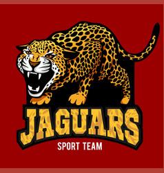 jaguar mascot - emblem for sport team vector image