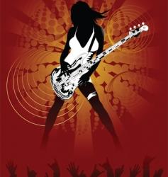 sexy rock chick vector image vector image
