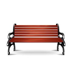bench isolated vector image vector image