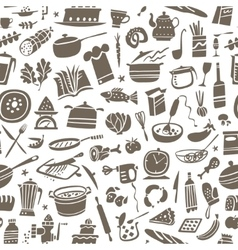 cookery seamless background vector image vector image