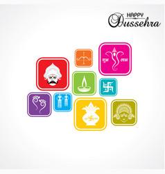 dussehra festival greeting or poster design vector image vector image