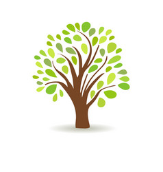 spring tree in a white background abstract vector image vector image