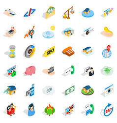 calling phone icons set isometric style vector image vector image