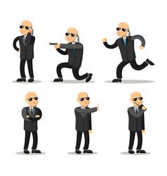 cartoon professional safeguard man security guard vector image vector image