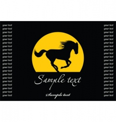 horse silhouette template vector image vector image