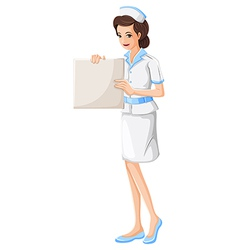A nurse holding a vacant chart vector image vector image