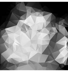 Black and white abstract background polygon vector image vector image