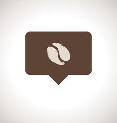 Coffee Shop Notification Icon vector image