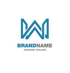 creative letter w logo vector image vector image