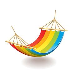 hammock isolated vector image
