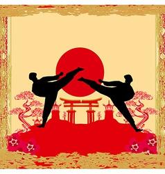 Karate occupations - grunge background vector