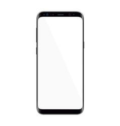 realistic modern smartphone vector image vector image