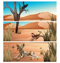 Wild animals living in dessert vector image