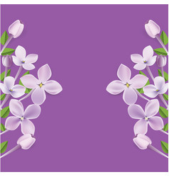 3d realistic floral frame or border vector
