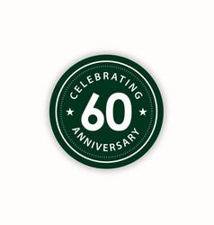 60 years anniversary celebrating retro vintage vector