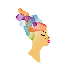 Abstract Hairstyle vector image