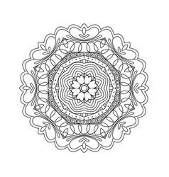 Abstract round ornament mandala vector